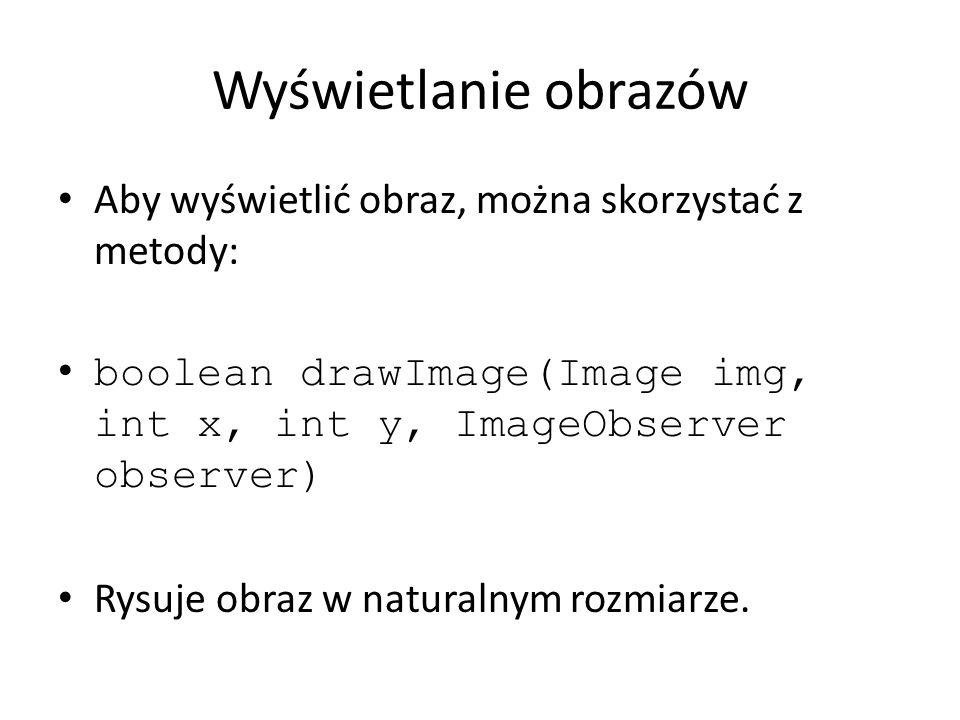 Wyświetlanie obrazów Aby wyświetlić obraz, można skorzystać z metody: