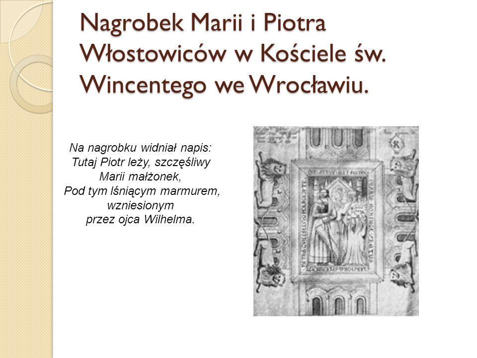 Nagrobek Marii i Piotra Włostowiców w Kościele św