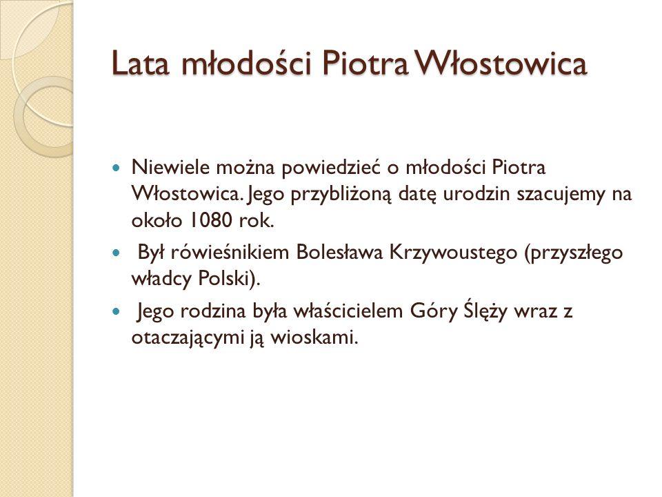 Lata młodości Piotra Włostowica