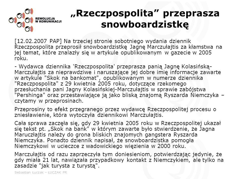 """""""Rzeczpospolita przeprasza snowboardzistkę"""