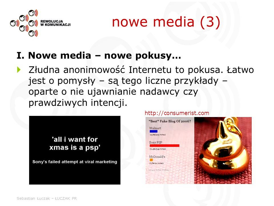 nowe media (3) I. Nowe media – nowe pokusy…