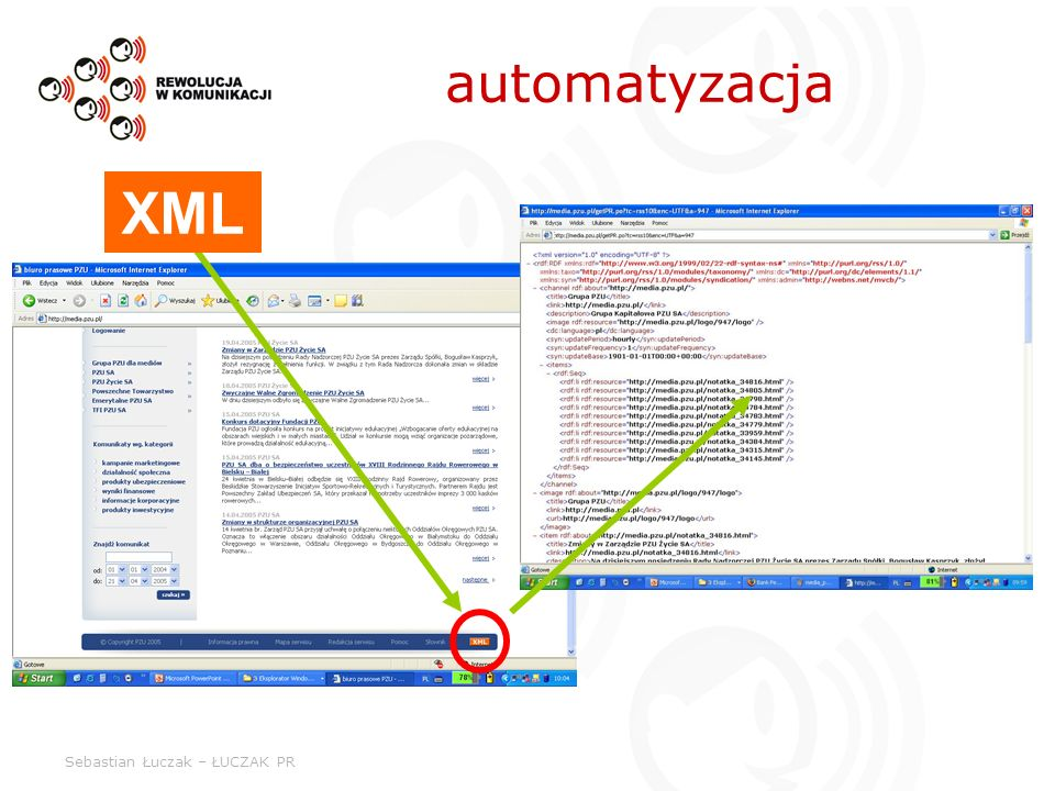 automatyzacja XML Sebastian Łuczak – ŁUCZAK PR