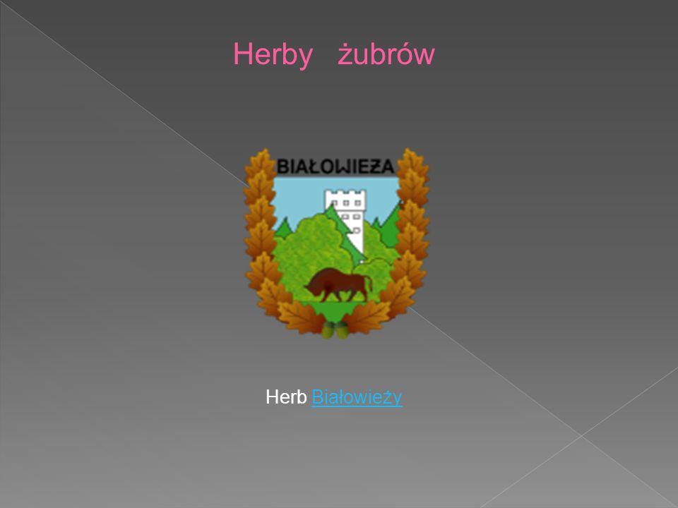 Herby żubrów Herb Białowieży