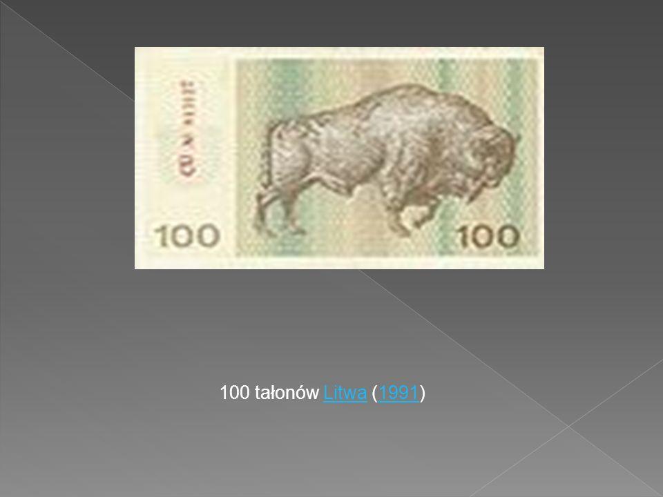 100 tałonów Litwa (1991)