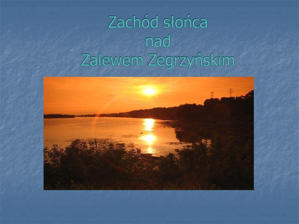 Zachód słońca nad Zalewem Zegrzyńskim