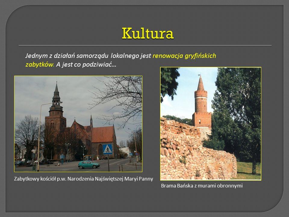 Kultura Jednym z działań samorządu lokalnego jest renowacja gryfińskich zabytków. A jest co podziwiać…