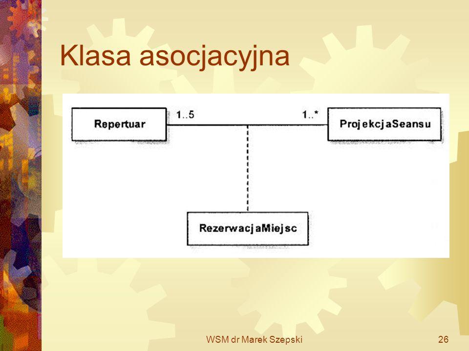 Klasa asocjacyjna WSM dr Marek Szepski