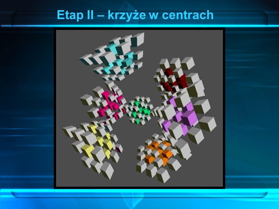 Etap II – krzyże w centrach