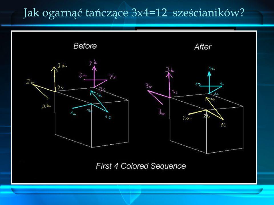 Jak ogarnąć tańczące 3x4=12 sześcianików
