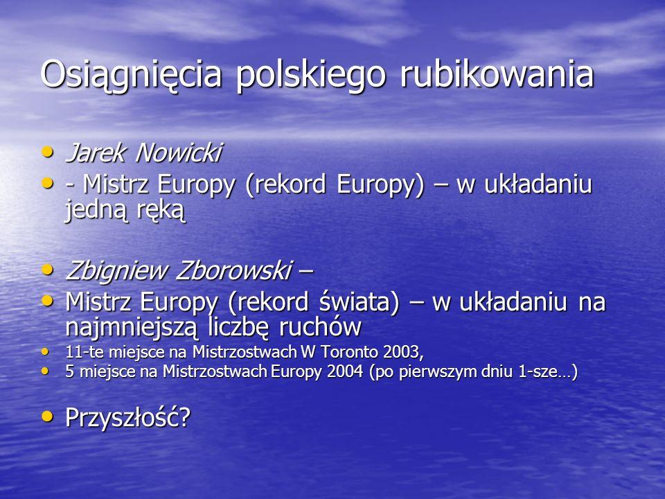 Osiągnięcia polskiego rubikowania