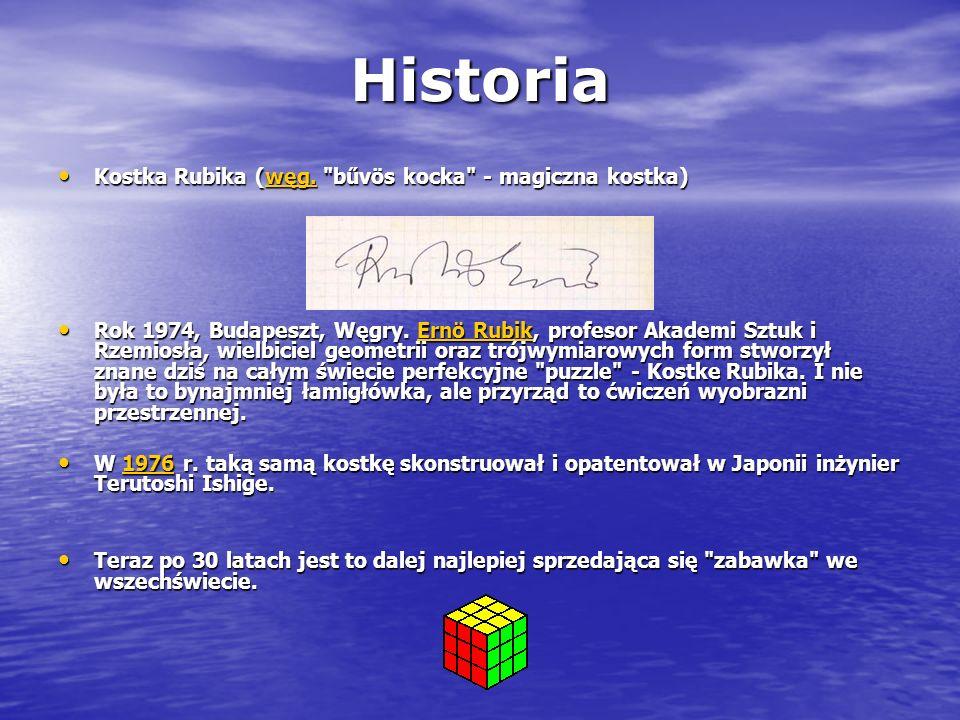 Historia Kostka Rubika (węg. bűvös kocka - magiczna kostka)
