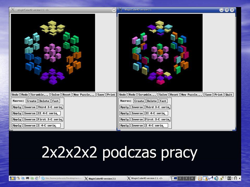 2x2x2x2 podczas pracy