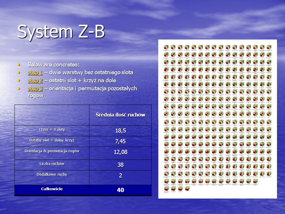 System Z-B Below are concretes: 18,5