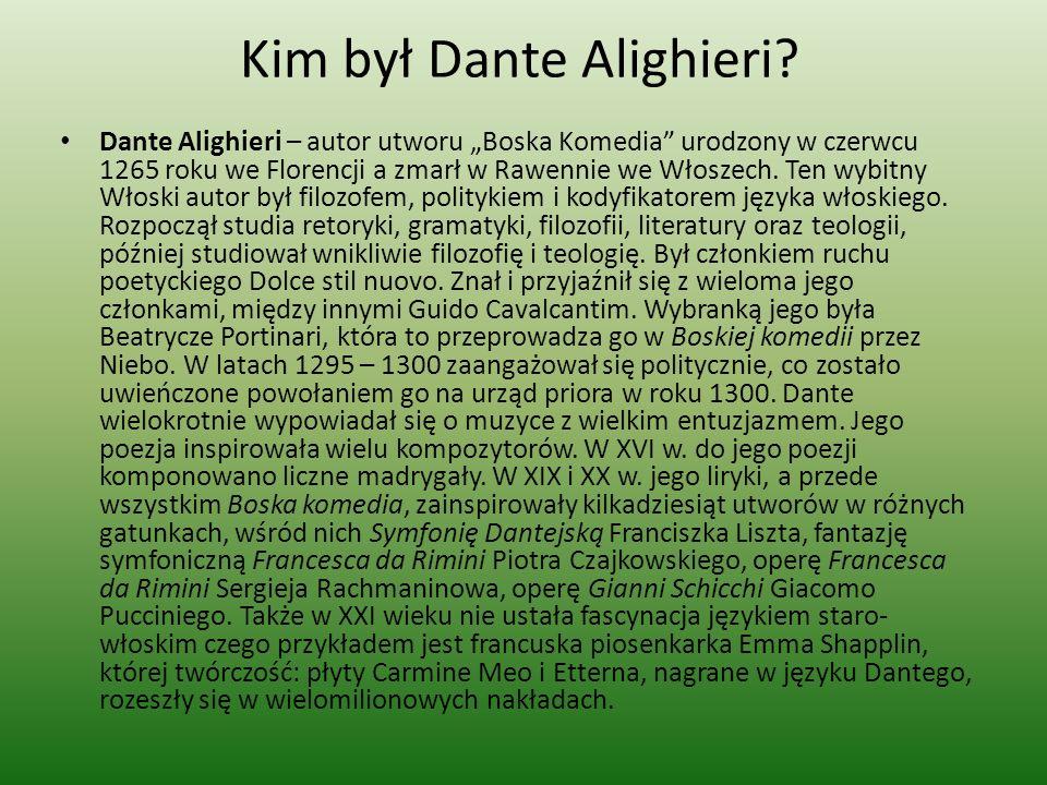 Kim był Dante Alighieri