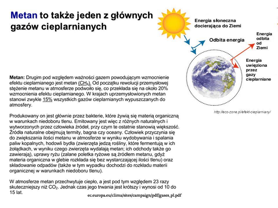 Metan to także jeden z głównych gazów cieplarnianych