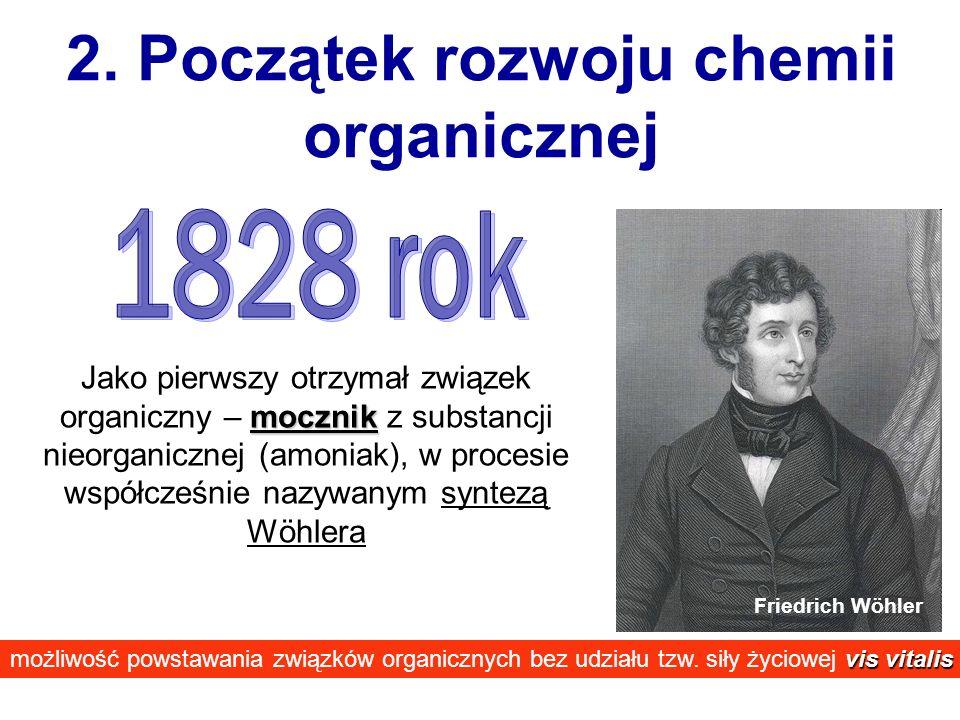 2. Początek rozwoju chemii organicznej