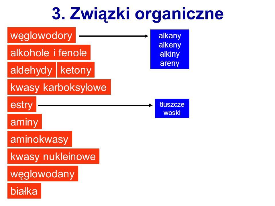 3. Związki organiczne węglowodory alkohole i fenole aldehydy ketony