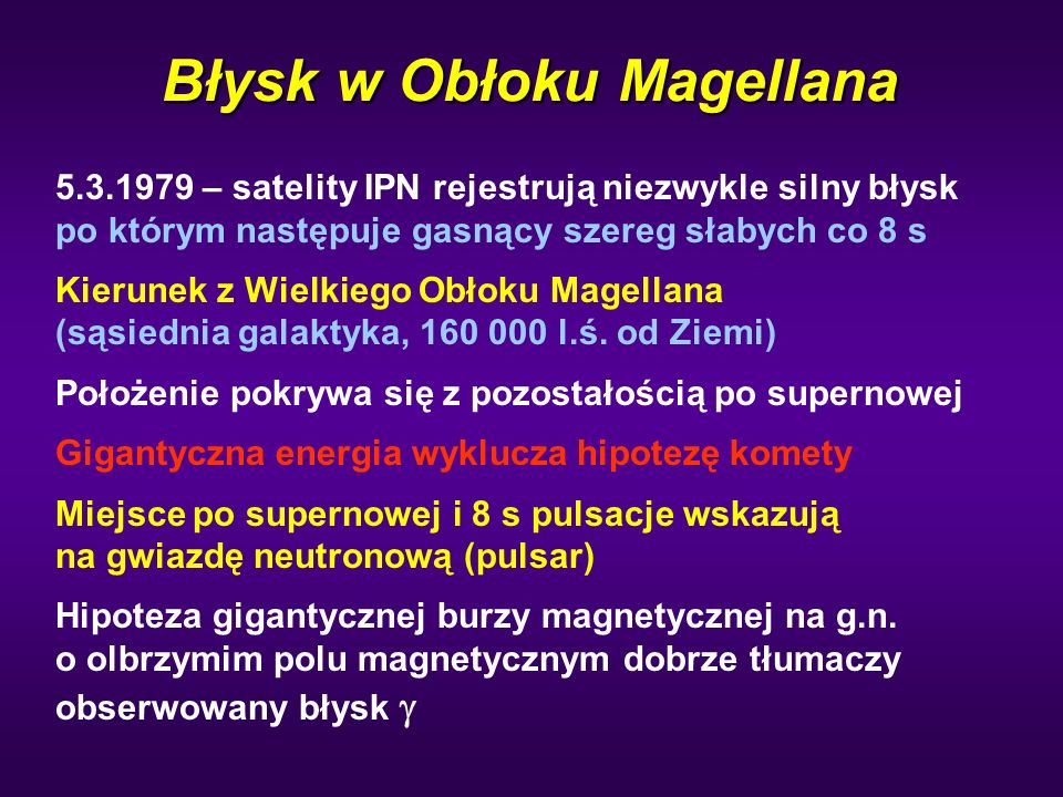 Błysk w Obłoku Magellana