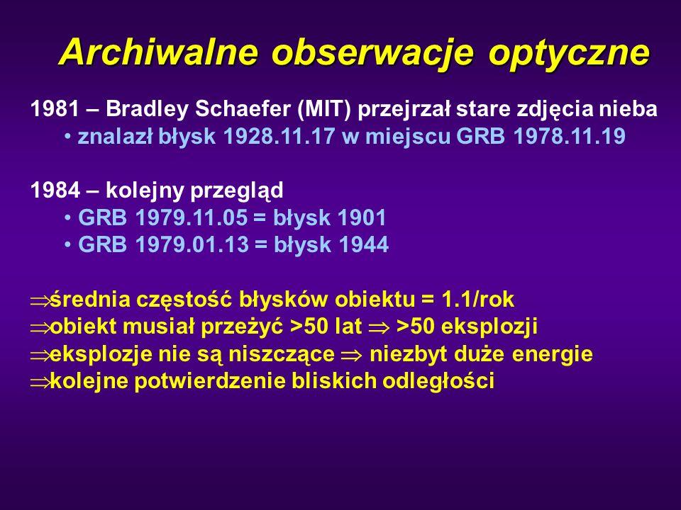Archiwalne obserwacje optyczne