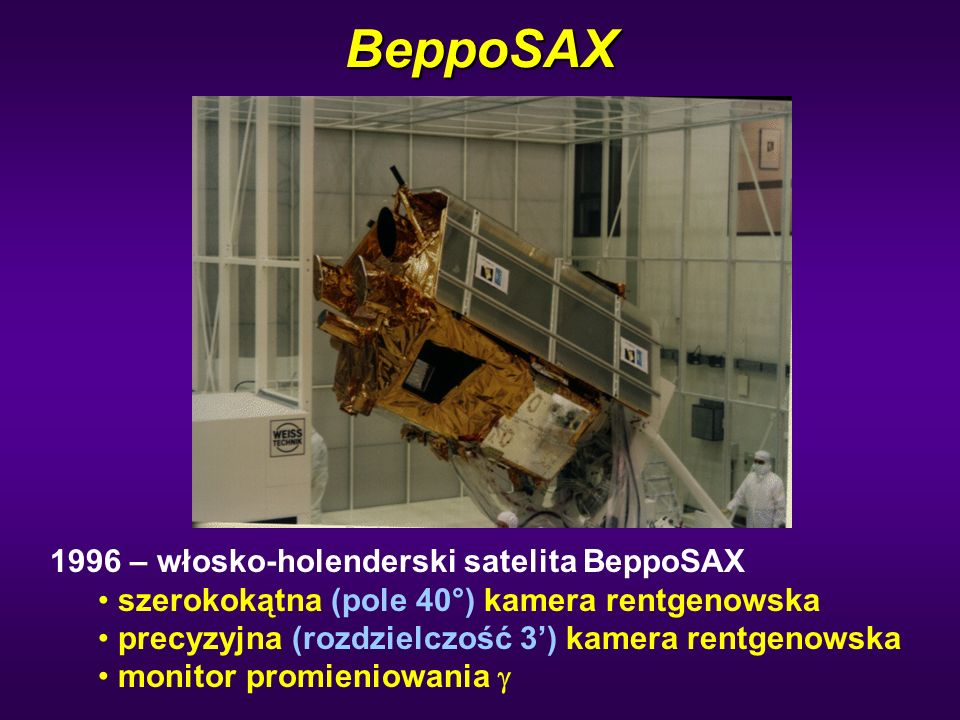 BeppoSAX 1996 – włosko-holenderski satelita BeppoSAX