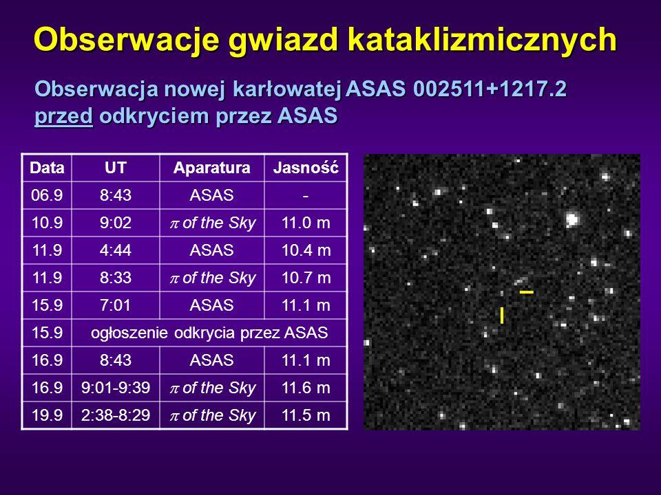 Obserwacje gwiazd kataklizmicznych