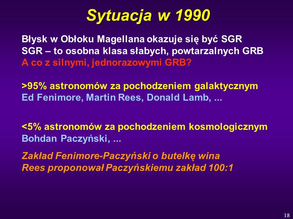 Sytuacja w 1990 Błysk w Obłoku Magellana okazuje się być SGR