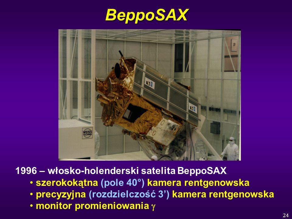BeppoSAX 1996 – włosko-holenderski satelita BeppoSAX