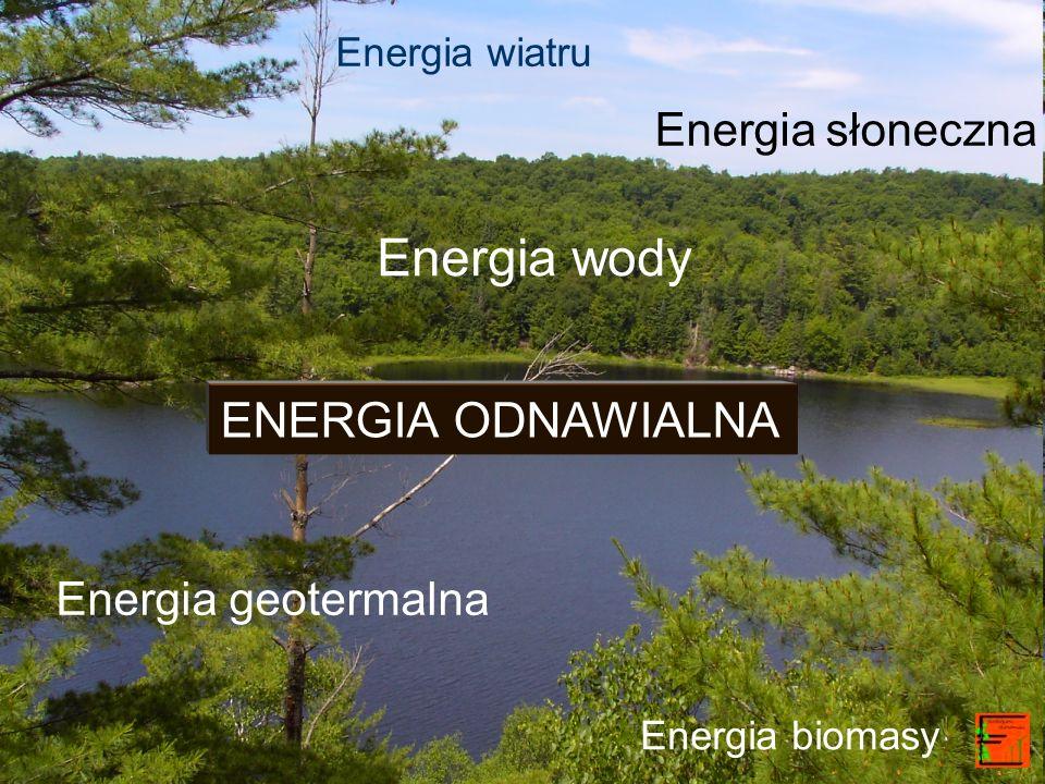 Energia wody ENERGIA ODNAWIALNA Energia słoneczna Energia geotermalna