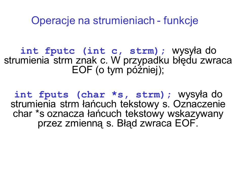 Operacje na strumieniach - funkcje