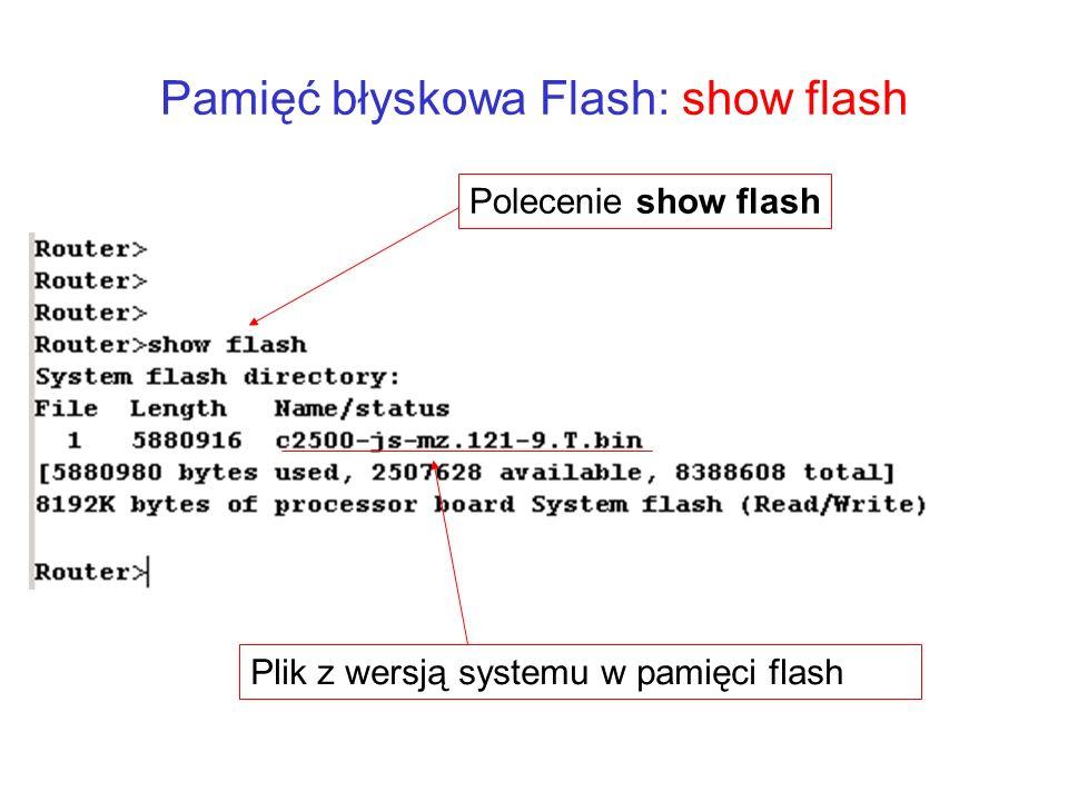 Pamięć błyskowa Flash: show flash