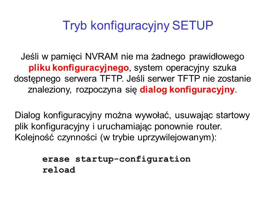 Tryb konfiguracyjny SETUP