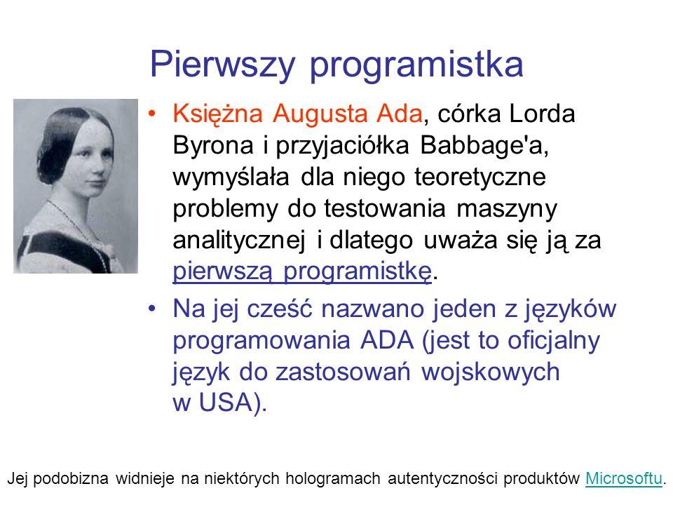 Pierwszy programistka