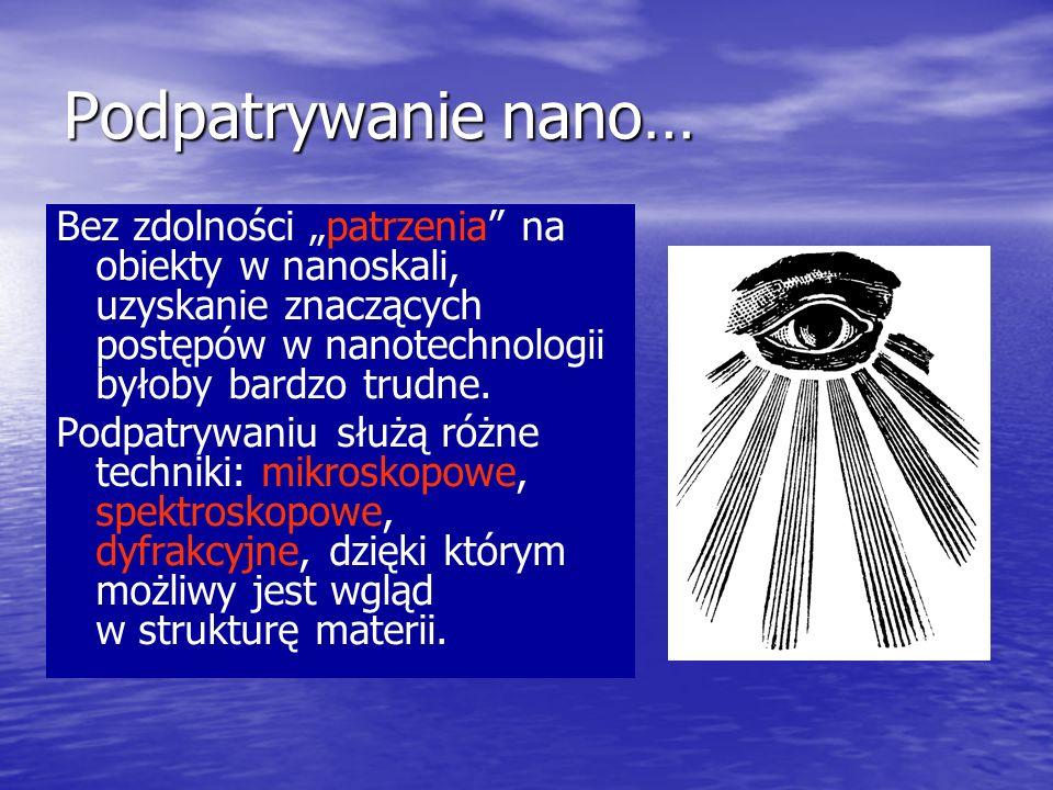 """Podpatrywanie nano…Bez zdolności """"patrzenia na obiekty w nanoskali, uzyskanie znaczących postępów w nanotechnologii byłoby bardzo trudne."""