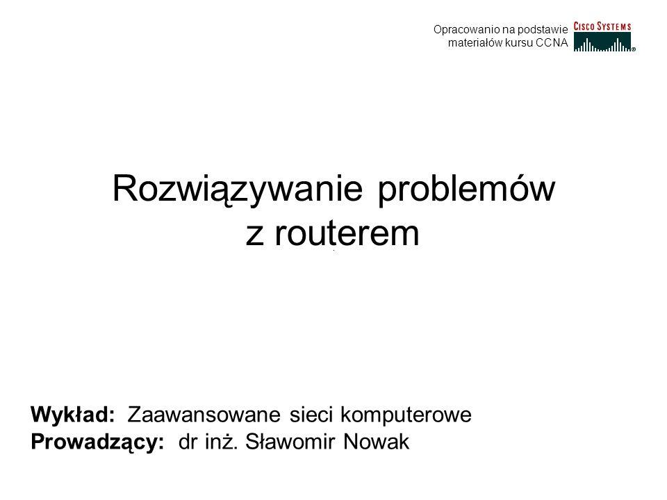 Rozwiązywanie problemów z routerem