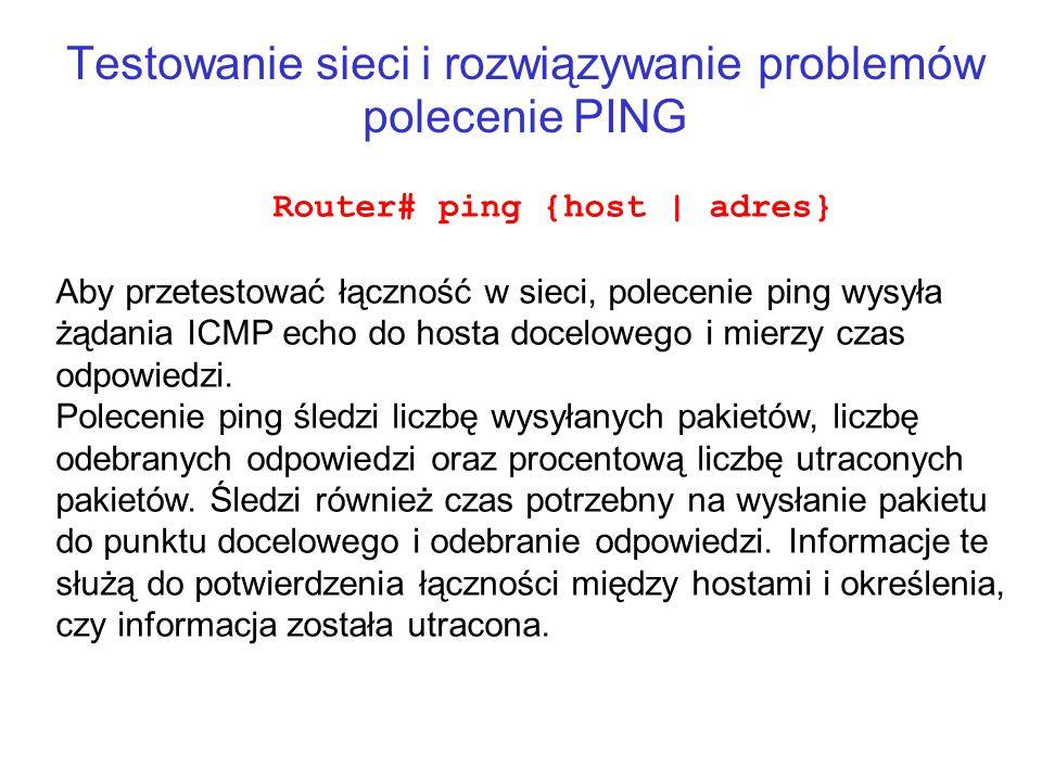 Testowanie sieci i rozwiązywanie problemów polecenie PING