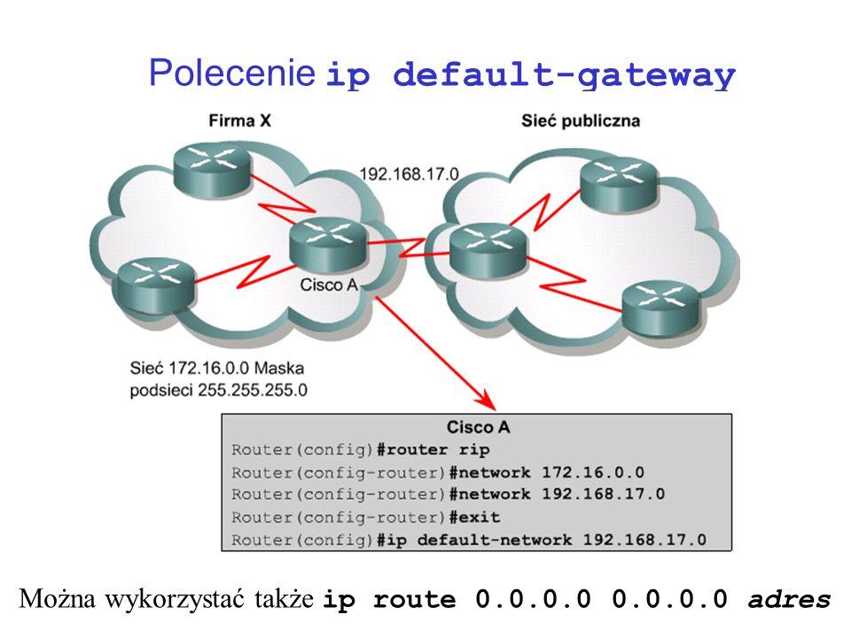 Polecenie ip default-gateway