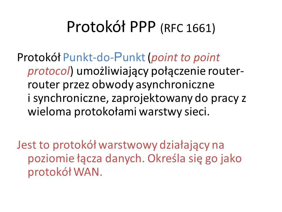 Protokół PPP (RFC 1661)