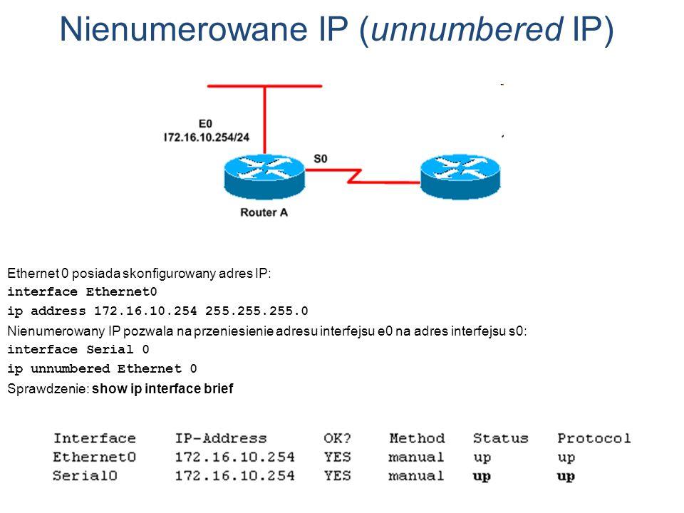 Nienumerowane IP (unnumbered IP)