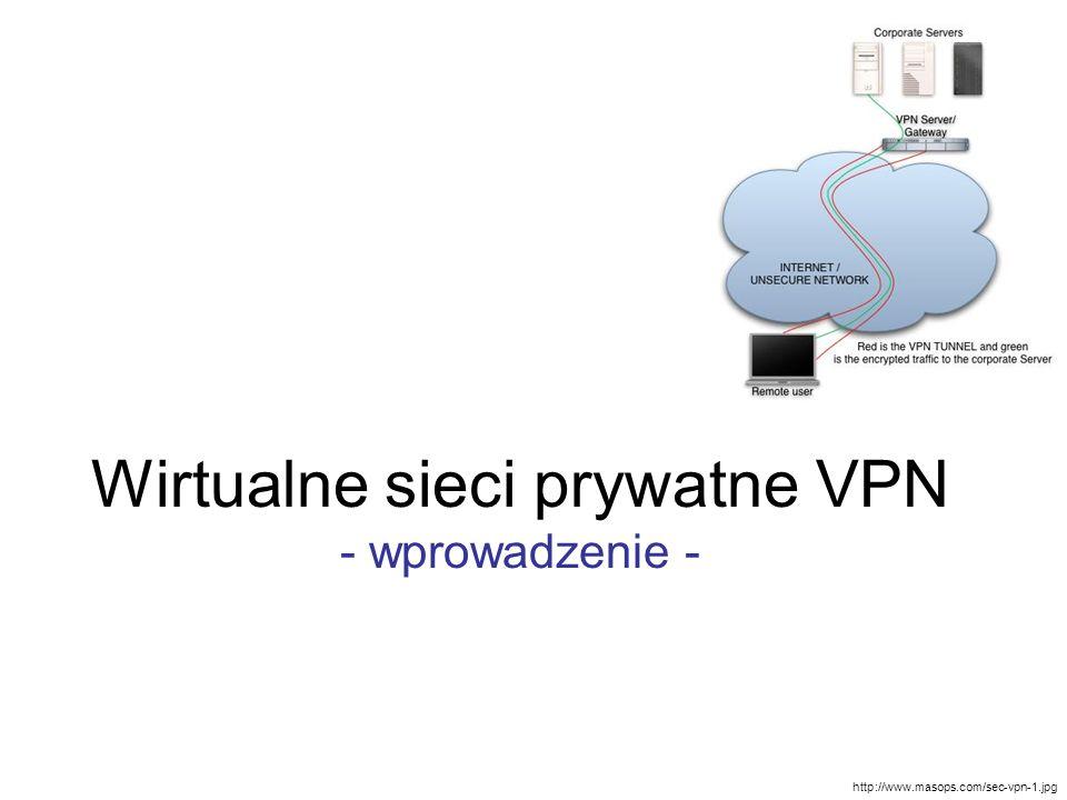 Wirtualne sieci prywatne VPN - wprowadzenie -