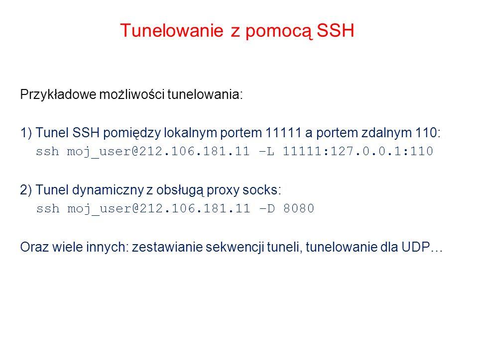 Tunelowanie z pomocą SSH
