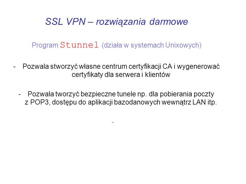 SSL VPN – rozwiązania darmowe