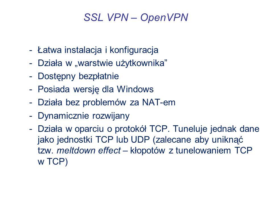 SSL VPN – OpenVPN Łatwa instalacja i konfiguracja