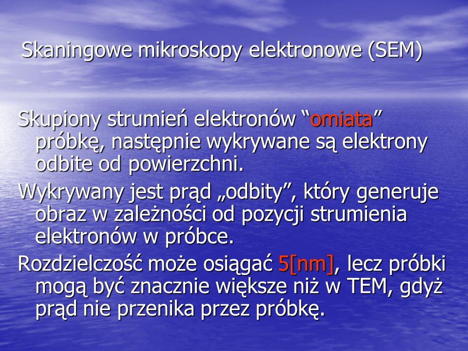 Skaningowe mikroskopy elektronowe (SEM)