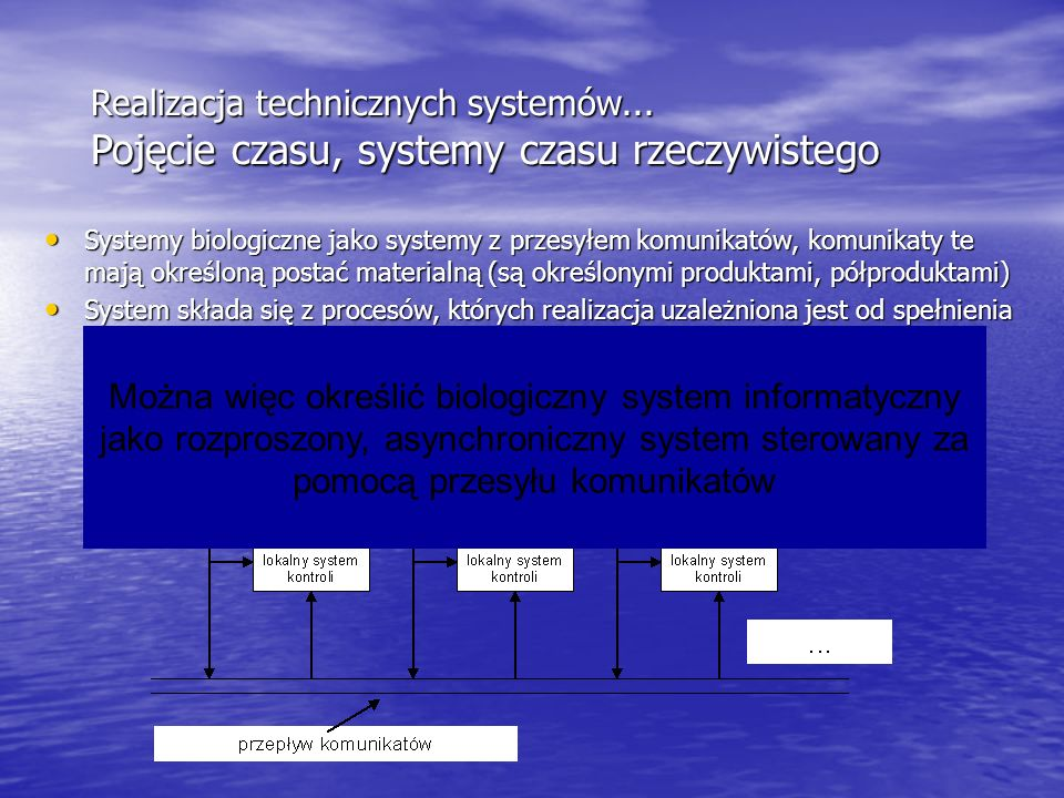 Realizacja technicznych systemów