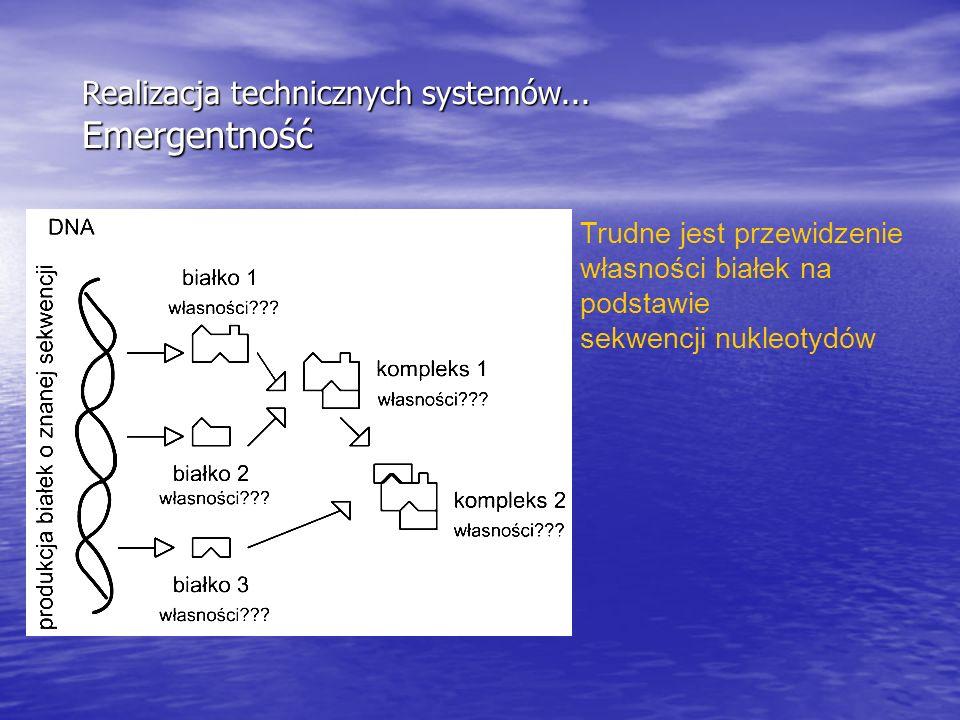 Realizacja technicznych systemów... Emergentność