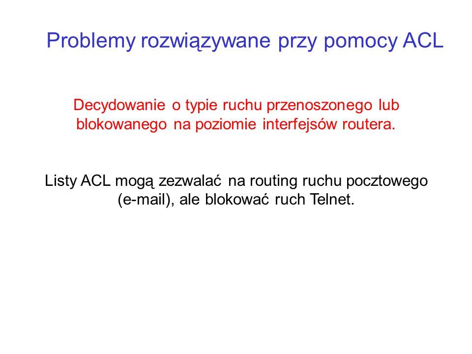 Problemy rozwiązywane przy pomocy ACL