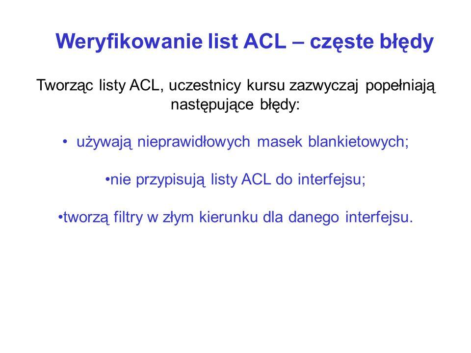 Weryfikowanie list ACL – częste błędy