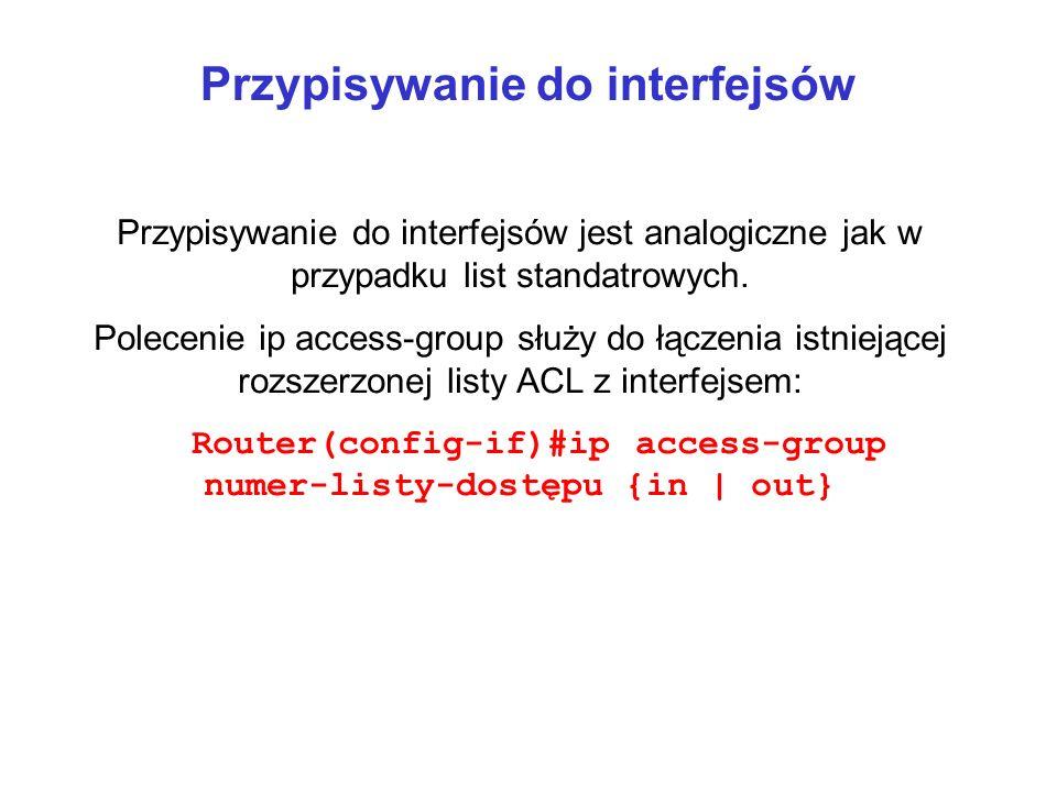 Przypisywanie do interfejsów