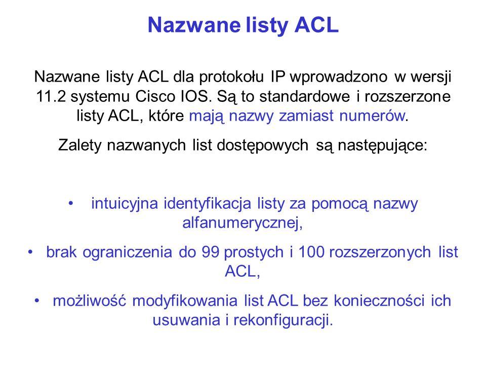 Nazwane listy ACL