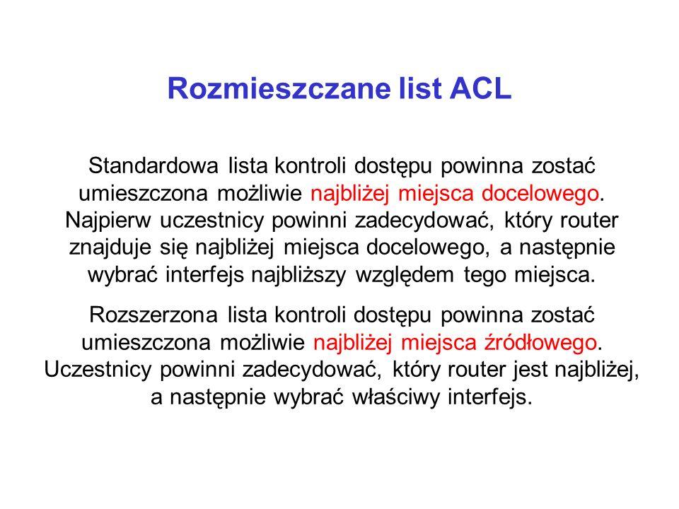 Rozmieszczane list ACL